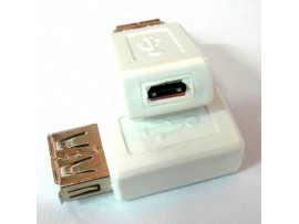 MICRO female adapter to USB female adapter connectors